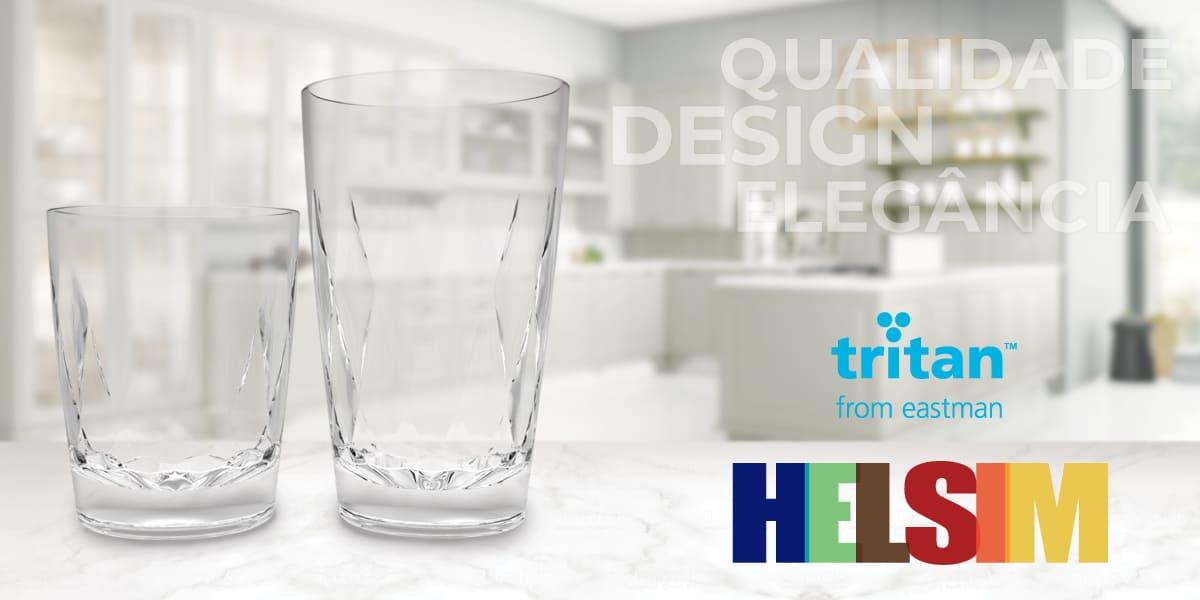 O copoliéster TritanTM é escolhido pela Helsim para criar nova linha de copos