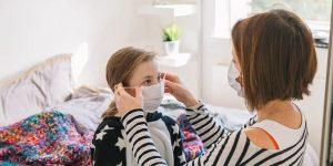 Crianças menores de 2 anos não devem usar máscaras